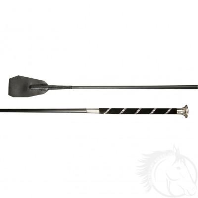 Döbert Reitstock M Dia P2 schwarz 65 cm mit zweireihigen Swarovski Elements
