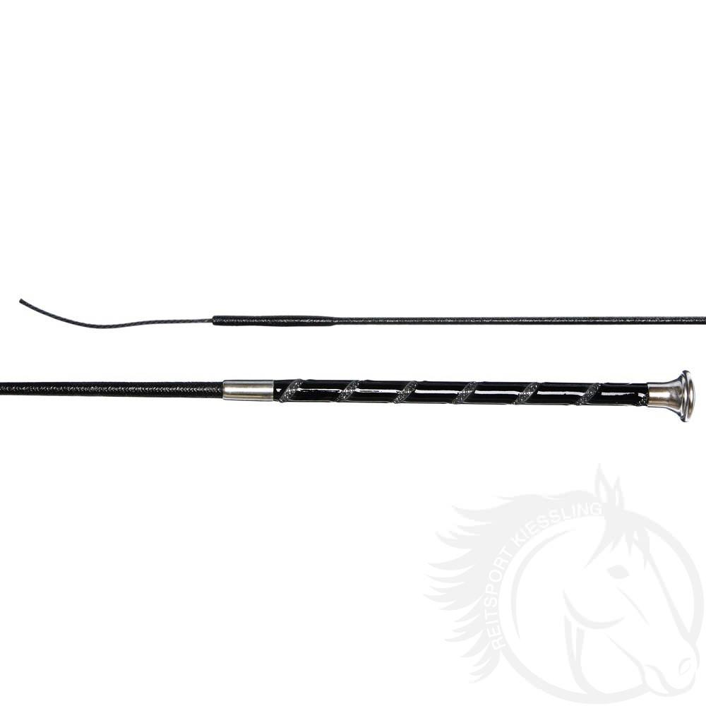 Döbert Dressurgerte lackiert mit zweireihigen Swarovski Elements