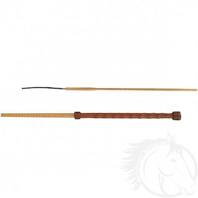 Döbert Dressurgerte mit 2-farbigem Stock und Lederwellengriff