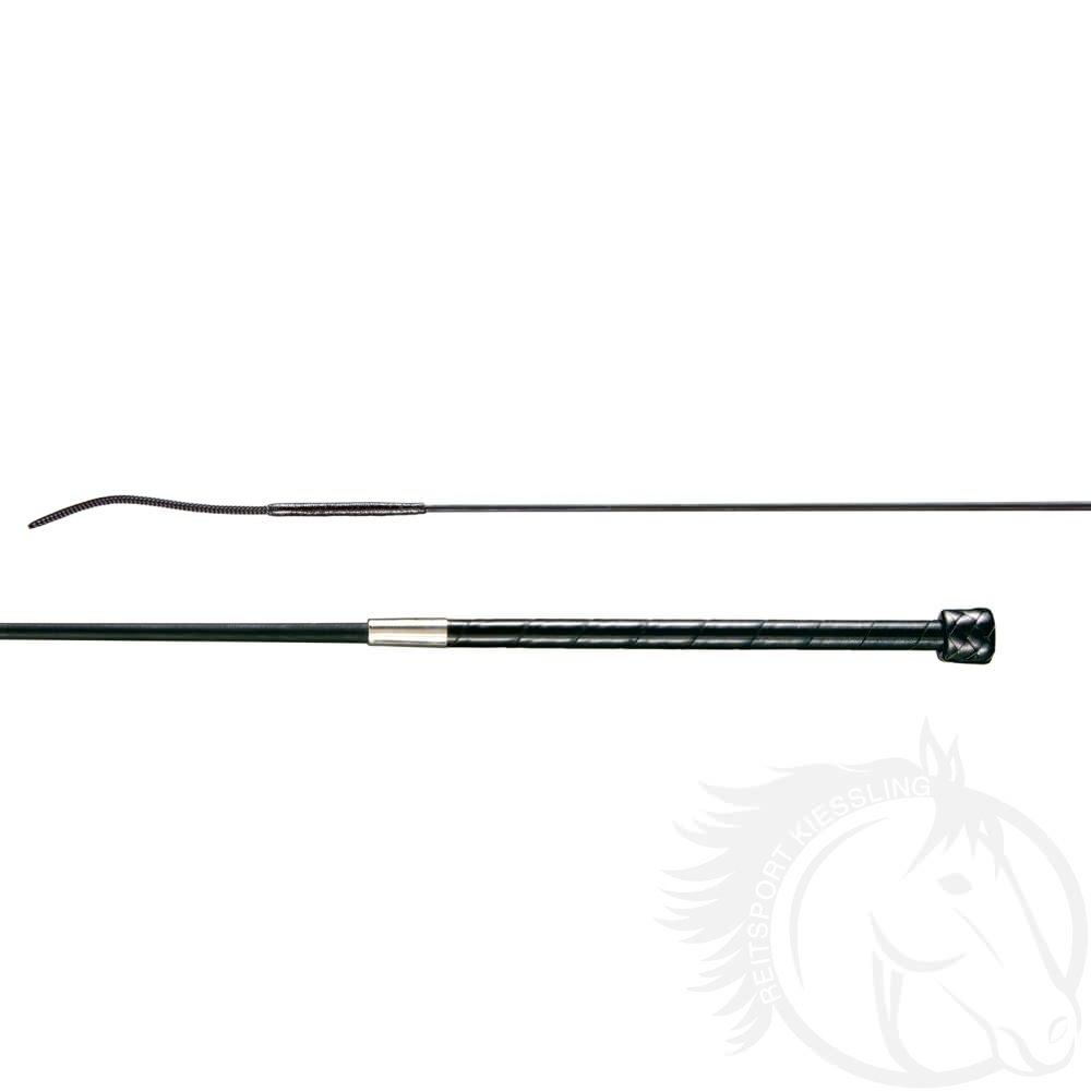 Döbert Carbon-Hohlglas-Dressurgerte mit Ledergriff und flexibler Spitze
