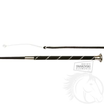 Döbert Dressurgerte in weicher Ausführung, flexibler Spitze und einreihigen Swarovski Elements