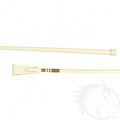 Döbert Reitstock 70 cm mit Lederklappe und Lederknopf