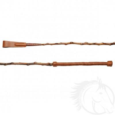 Döbert Reitstock braun 70 cm aus Naturdorn mit Ledergriff